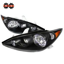 For 2005-2006 Toyota Camry Black Euro Headlights Replacement Lights