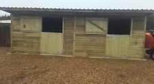Double stable block 24x12 horse shelter