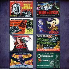 Martello Horror classico Film Poster Set da 8 grande calamite frigo N ° 1