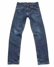 Men's Vintage CROCKER 310 SKINNY Zip Fly Stretch Blue Denim Jeans Size W28 L28