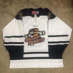 CCM Greenville Swamp Rabbits ECHL Hockey Jersey White Away M