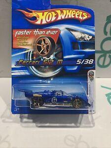 Hot Wheels Ferrari 512M [Blue] LeMans FE - New/Sealed/XHTF FIRST EDITION RARE !!
