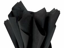 BLACK Tissue Paper GIFT BAGS, WRAPPING & CRAFTS ~ 24 sheets ~ Great Price!