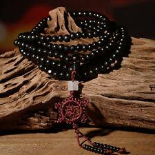 Sandalwood Buddhist Buddha Meditation 6mm 216 Prayer Bead Mala Bracelet Necklace