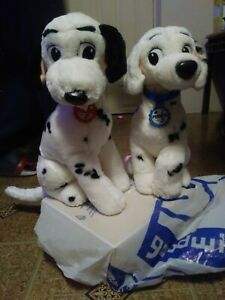 Disney Store Perdita & Pongo Dog 101 Dalmatians Stuffed Plush STAMPED RARE