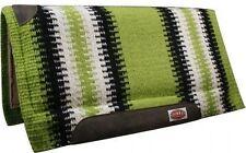 "Showman LIME GREEN 36""x34"" Wool Top Memory Felt Bottom Cutter Style Saddle Pad!"