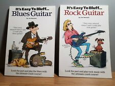 It's Easy to Bluff Blues/Rock Guitar 2 ×Music Tutor Book Bundle Fast & Free Post