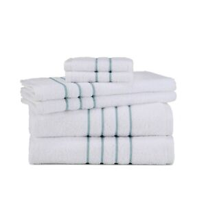 WestPoint Home Grand Patrician Embroidered Cotton 6-Pc. Towel Set - Mineral Blue