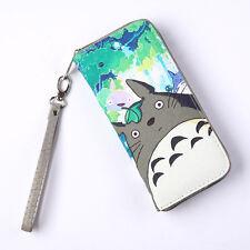 Studio Ghibli My Neighbour Totoro Figure PU Long Zip Wallet Purse Bag Pocket