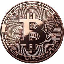 2016 Bitcoin Commemorative 1 oz .999 Copper BU Round USA Made Bullion Coin