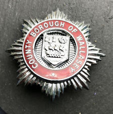 COUNTY BOROUGH OF WALLASEY FIRE BRIGADE CAP BADGE.