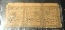 PENNSYLVANIA COLONIAL CURRENCY Oct 5th 1773 10 15 50 Shilling Uncut set