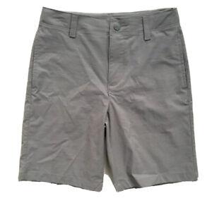 UNDER ARMOUR Boys Golf Shorts HeatGear Casual Dress Grey NWT YOUTH SIZE 4 7