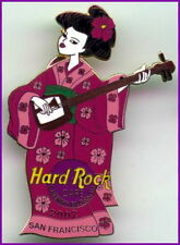 Hard Rock Cafe SAN FRANCISCO 2002 Cherry Blossom PIN Geisha Kimono Guitar #13072