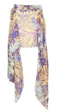 Abstract Hippy Theme Colorful Tie Dye Groovy Trippy Design Scarf (S7)
