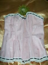Marks & Spencer Wild Hearts pale pink underwired boned bustier/corset 32A