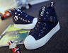 Fashion Women's High Top Lace up Heels Casual Canvas Sneakers Sprot Shoe Size US