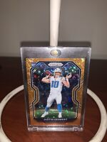 2020 Panini Prizm Justin Herbert ORANGE DISCO ROOKIE CARD #325 Chargers ROY