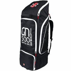 2021 Gray Nicolls GN500 Black White Duffle Cricket Bag Size: 85 x 36 x 34cms