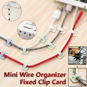 Mini Wire Organizer Fixed Clip Card Network Cable Data Cable Buckle 36pc/2set