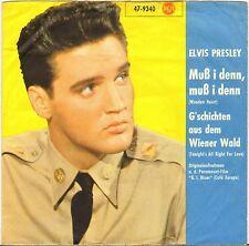 """ELVIS PRESLEY """"WOODEN HEART"""" GERMAN 60'S SP RCA 47-9340"""