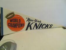 Vintage New York Knicks World Champions Basketball Pennant   29 inch  NBA