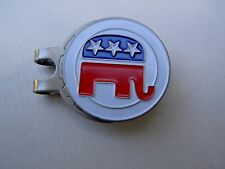 Golf Hat Clip Ball Marker REPUBLICAN Elephant Embossed Trump