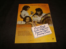 COME BACK TO THE 5 & DIME JIMMY DEAN 1982 Oscar ad Cher & HOTEL NEW HAMPSHIRE
