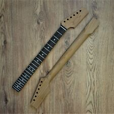 Tele Telecaster Roasted Maple Rosewood Guitar Neck Unfinished Paddle Headstock