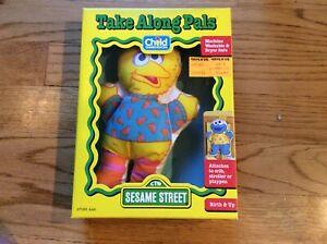 Sesame Street Big Bird Take Along Pal Baby Doll Toy Playskool