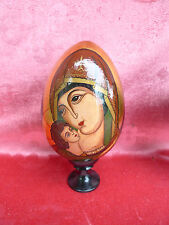 Pretty, Russian lackei___Polished Wood __ hand painted__MADONNA__ 19, 5cm_