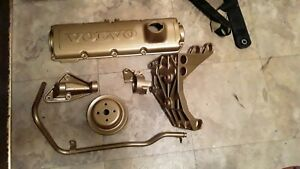 Volvo 240 Powder Coated Parts - Valve Cover, Engine Brackets, Heater Pipe