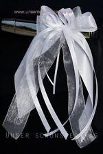 10 X Antennenschleife Autoschleife Autoschmuck Hochzeit SCH0103 weiß