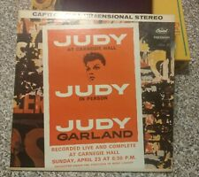JUDY GARLAND: In Person At Carnegie Hall 1961 2X Vinyl LP Gatefold SWBO 1569