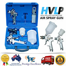 2 HVLP Air Spray Gun 7 in 1 Kit Set 1.4/0.8mm Nozzle Paint Touch Up Gravity Feed
