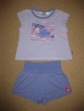Girls Purple Disney Winnie the Pooh Eeyore Summer Pyjamas Size 8