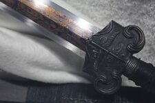 Black Plated Forged Folded Handmade Han Wu Chinese Sword Jian