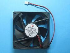 8 pcs Brushless DC Cooling Fan 12V 8025S 7 Blades 80x80x25mm 2pin Sleeve-bearing