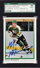 MIKE MODANO AUTOGRAPHED 1990 OPC PREMIER ROOKIE CARD W/ PERFECT 10 AUTO