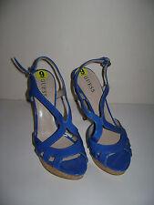 NEW GUESS ALEENA Size 9 BLUE SLIP ON SLINGBACK SHOES PUMPS HEELS BEAUTIFUL