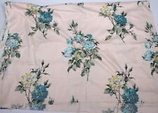 More details for vintage fabric c1950s curtain upholstery fabric pink and blue floral