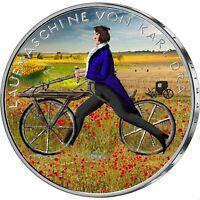 Deutschland 20 Euro 2017 Karl Drais Laufmaschine von 1817 BRD Münze in Farbe