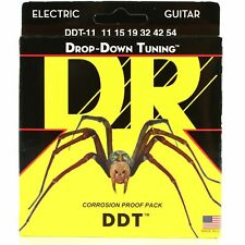 DR Strings DDT-11 Drop Down Tuning Electric Guitar Extra-Heavy 11-54