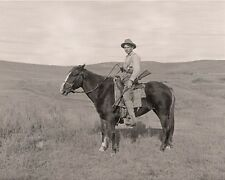 "1886 photo of a young Cowboy/ hunter with his pistol and rifle, Horse, 20""x16"""