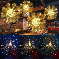 200 LED Hanging Decor Lights Starburst Fireworks Fairy String Light with Remote