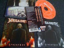 MEGADETH / 13 /JAPAN LTD CD OBI  bonus track