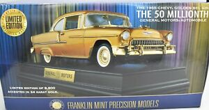 Franklin Mint 1955 Golden Bel-Air Limited Edition GM Millionth Diecast Car