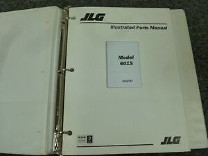 JLG Model 601S Dual Fuel Telescopic Boom Lift Parts Catalog Manual
