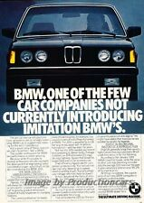 1982 BMW 320i - One of the Few - Original Advertisement Print Art Car Ad J789