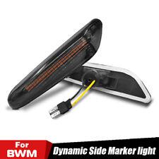 2x Dynamic LED Side Marker Turn Signal Light For BMW E90 E91 E92 E93 E82 E83 E87